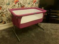 Chicco Next To Me Crib Cot in Fuchsia Pink