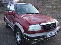 2002 SUZUKI GRAND VITARA 1600(NO OFFERS)