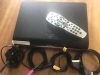 Sky + plus HD box, remote control & cables