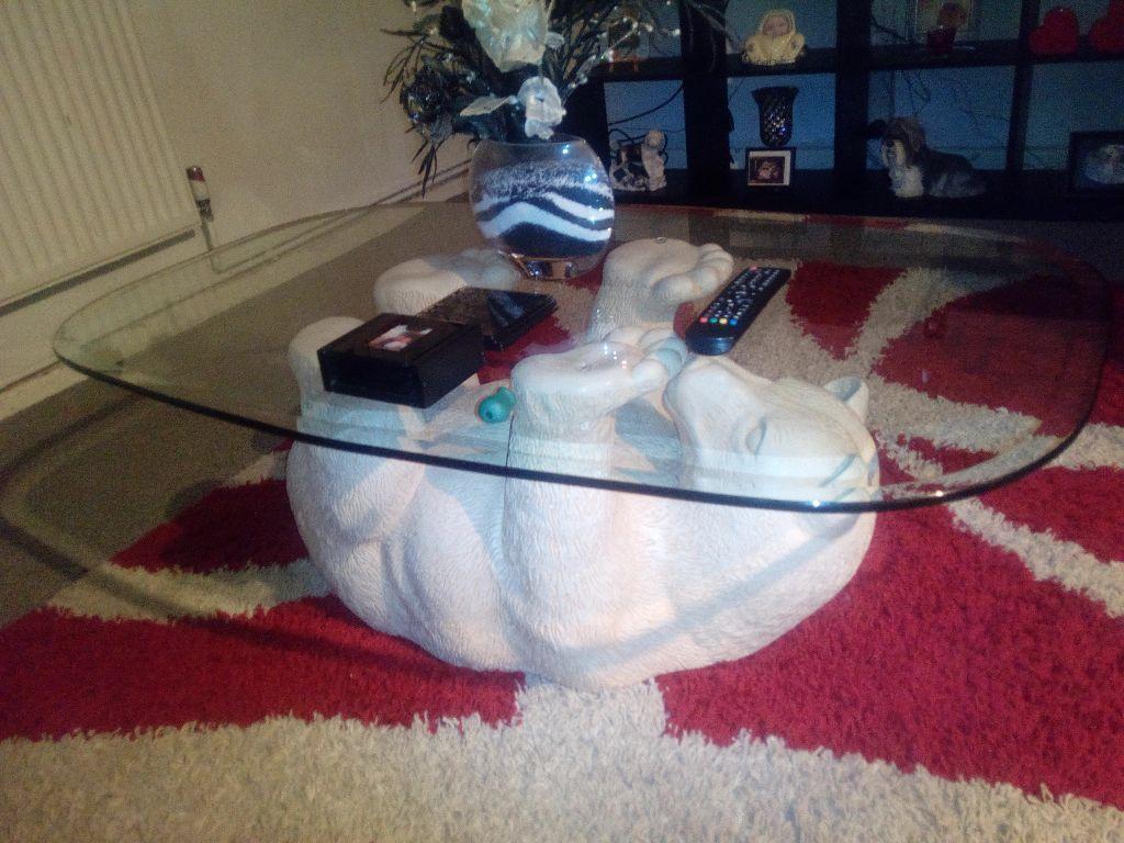 Polar bear coffee table in bury manchester gumtree polar bear coffee table geotapseo Gallery