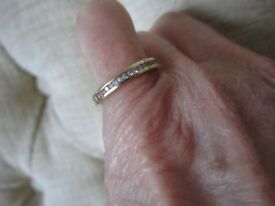 For Sale 9ct yellow gold 20 diamond half eternity ring