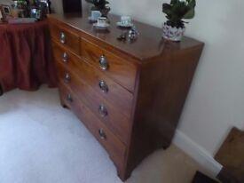 Georgian drawers mahogany