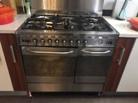Baumatic Dual Fuel Silver Range Cooker - 5 Ring hob - Fully working