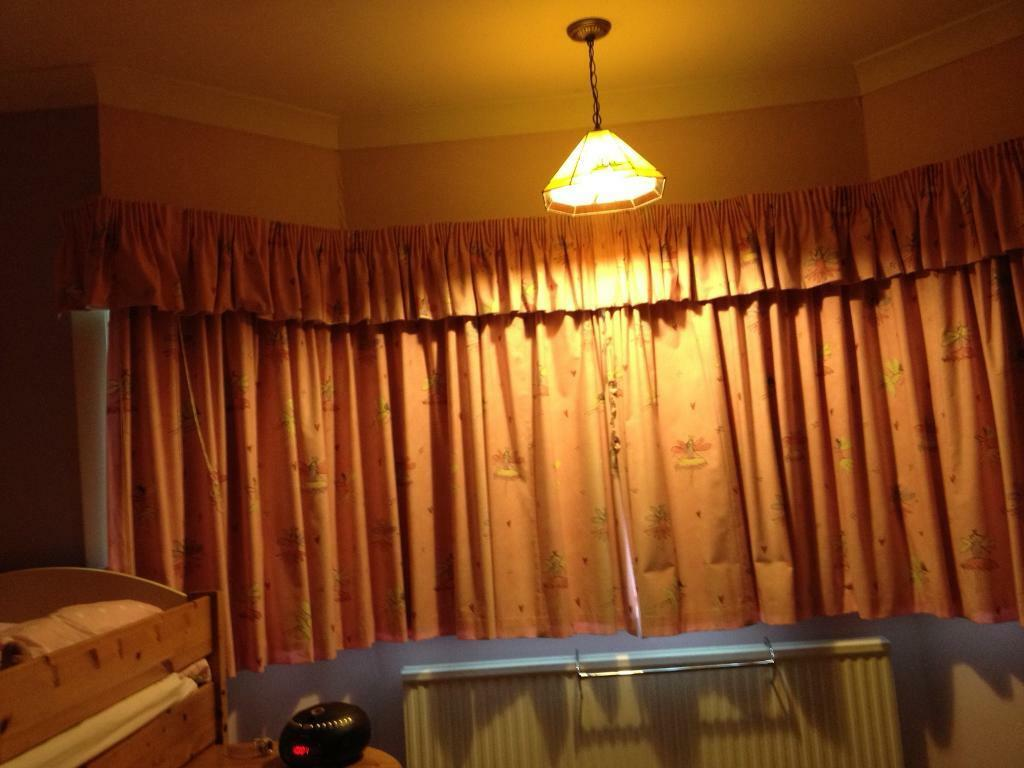 Fairy Print Pink Curtains