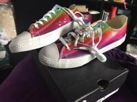 Rainbow Converse Shoes Size 5 - BNIB