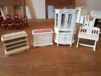 Wooden dolls furniture
