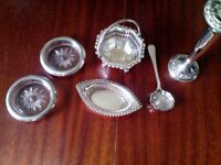 Set of silver plated ornaments
