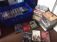 large job lot of dvd's over 100 all in their boxes.