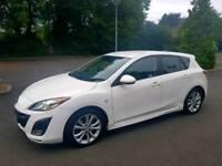**WHITE 2009 Mazda 3 2.2D Sport** (185BHP) 6SPEED 71K miles 5door*Sat Nav*Heated Seats*Full leather*