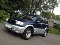 HI SPEC 2003 SUZUKI GRAND VITARA RHINO 5 DR /LOW MILES/NEW MOT/BRAND NEW CAMBELT/IDEAL SIZE 4WD