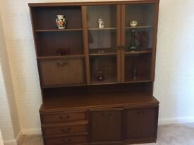 FREE wall unit with glass doors, drawers and cupboards.