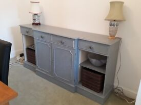 For sale shabby chic sideboard newly painted with in distressed grey