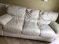 Two seater & three seater leather sofa