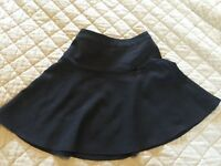 2 Girl's Black School Skirts Size 6-7 Years