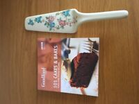 New recipe book and cake server