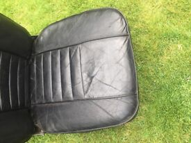 Mgb genuine leather seats from 1966 vintage will fit all.