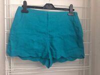 Asos Turquoise shorts - Size UK 10