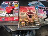 Triathlon/Outdoor fitness /Running magazines x 40