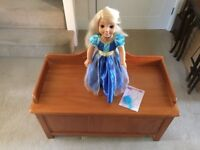 Tutti Bambini Selina Pine Toybox with Assorted Soft Toys including My Friend Princess Cayla