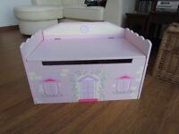 Girl's Wooden Fairytale Castle Toy Box