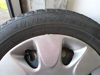 Nissan wheels & Bridgestone winter / snow tyres