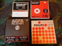 JOB LOT OF 4 NEW AND USED REEL TO REEL TAPES: HIPSTER HEAVEN!