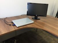 FREE office desk, tall cupboard and low cupboard for collection asap