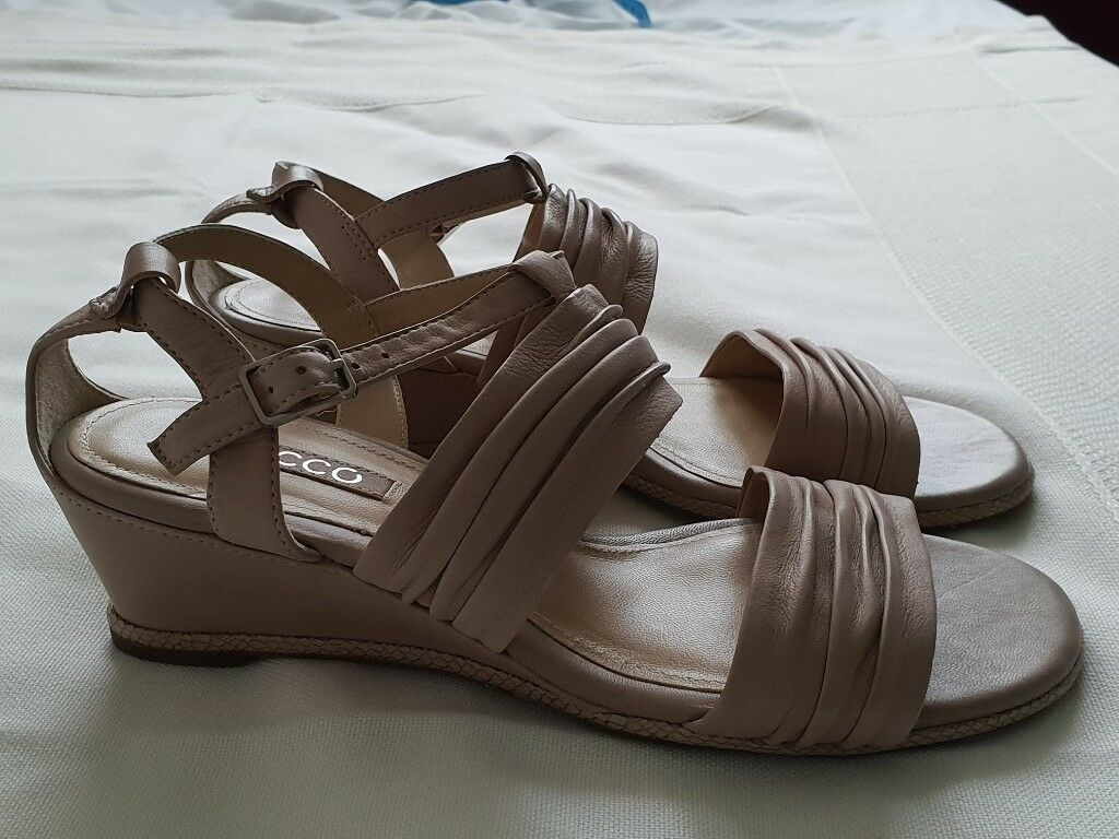 23dd27b218dce Great comfortable Ecco wedges, size 38, colour nude, leather, as new