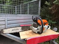 Stihl ms261 c . With heated handle