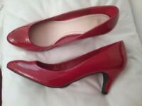 Marks and Spencer - Red Painten shoes for sale