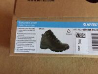 Hi-tec Eurotrek Size 8 Men's Walking Boots. BRAND NEW WITH TAGS, IN THE BOX!