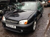 2002 Ford Fiesta MK5 1.6 Zetec S 3dr panther black BREAKING FOR SPARES