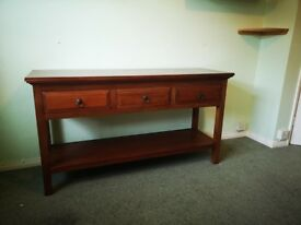Heavy solid wood console table
