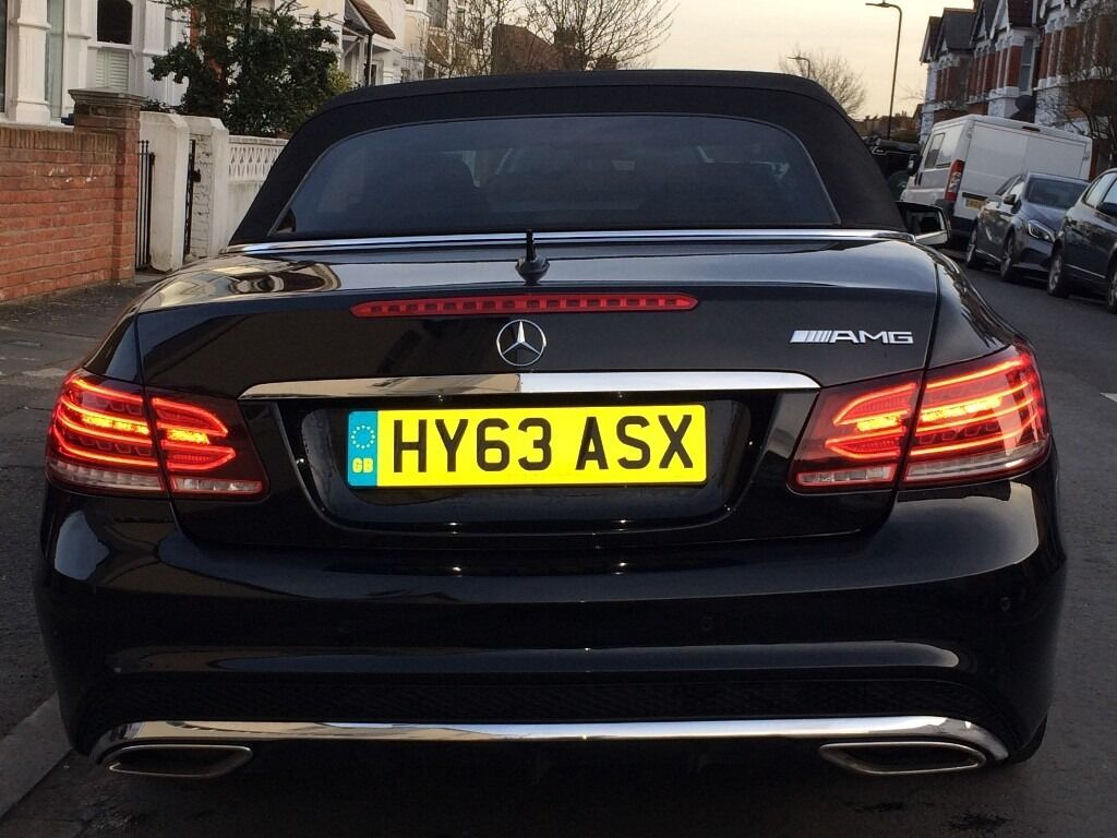 "2014, 63' plate Mercedes-Benz E250 CDI AMG Sport 7G, 2dr Black, Diesel,Leathers, 18"" AMG"