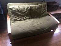 Futon Company Quad - 2 Seater Birch Double Sofa Bed with storage box