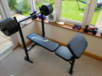 Weight Bench with 30kg weights