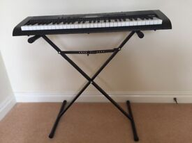 Very good condition Casio CTK-1150 keyboard with stand and stool