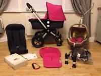 Bugaboo Cameleon 2 grey & pink Travel System Pram maxi cosi car seat