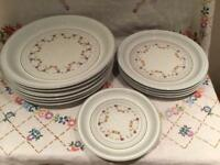 JOB LOT 11 VINTAGE DENBY AVIGNON DINNER SET PLATES