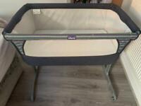 Chicco next2me crib navy denim (from birth)