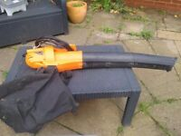 Electric leaf blower and picker up