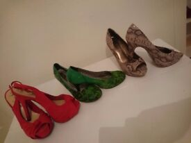 Shoes various styles Size 6 to 7 Heels Dance trainers good for pole dance Badminton trainers