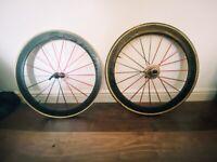 Fast Carbon Tubular Wheelset 50mm 10 Speed Shimano/Campag - Cassette & Tubs inc