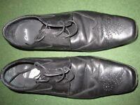 Men's Clarks black brogue lace up shoes UK10