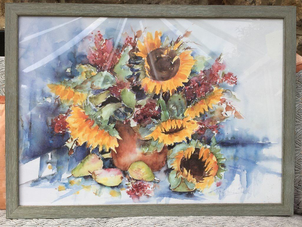Alie Kruse Kolk.Print Of Sunflowers By Alie Kruse Kolk In Richmond North Yorkshire