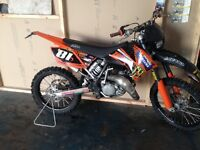 Ktm sx 125cc roadlegal motocross bike Enduro Road registered Moped learner legal yz rm cr kx 125 50