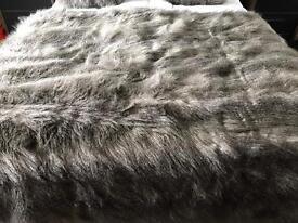 Faux Fox Fur Throw & Cushion Set