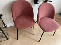 x2 Pink dining room chairs (from Amazon)