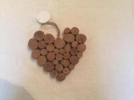 Wedding decorations- wooden style hearts.