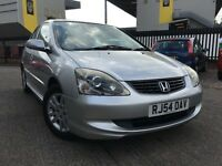2004 * HONDA * CIVIC EXECUTIVE * 1.6 PETROL * MANUAL * HEATED LEATHER * F/S/H * FULL MOT * WARRANTY